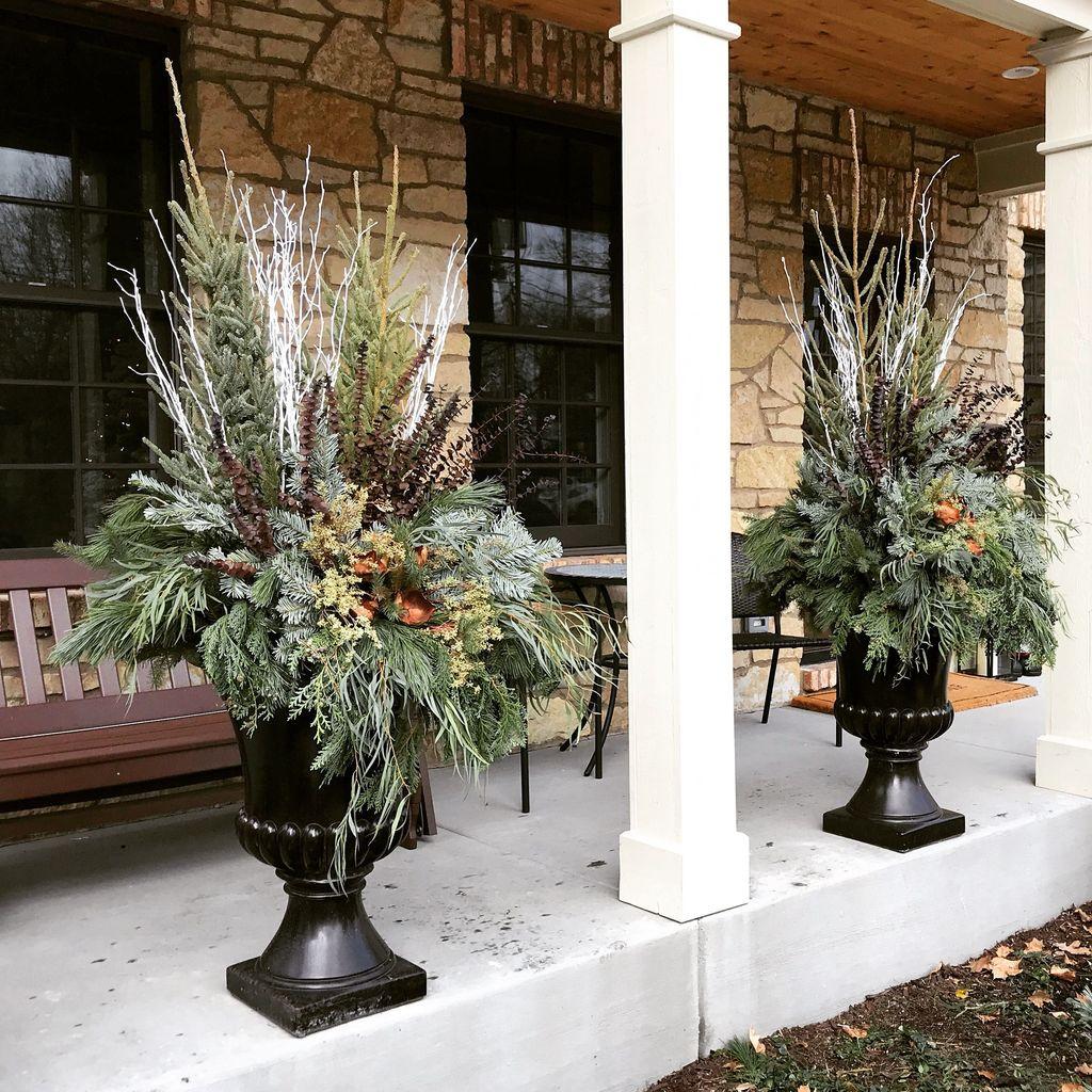 33 Amazing Fall Planter Ideas Best For Front Porches - MAGZHOUSE on house front porch ideas, house front patio ideas, house front wall ideas, house front garden ideas,