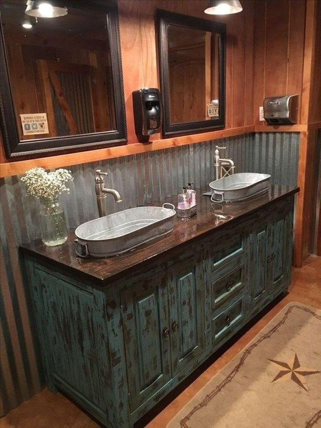 Amazing Rustic Barn Bathroom Decor Ideas 10
