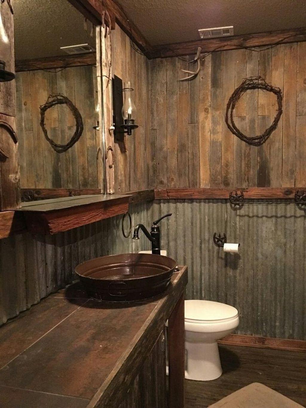 Amazing Rustic Barn Bathroom Decor Ideas 33