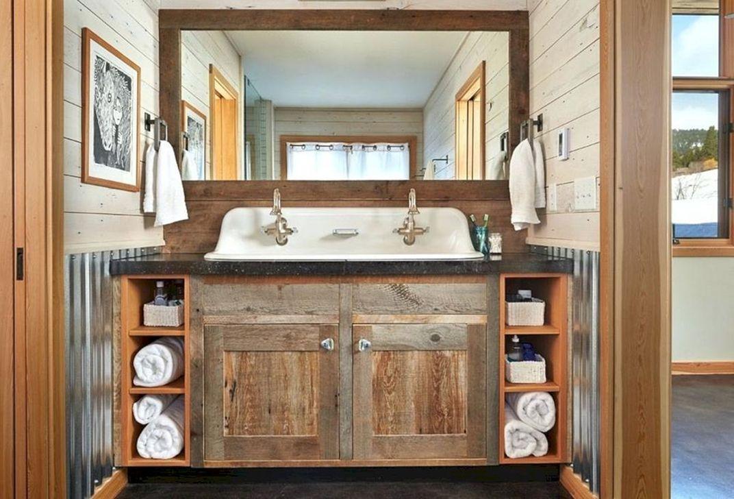 Amazing Rustic Barn Bathroom Decor Ideas 37