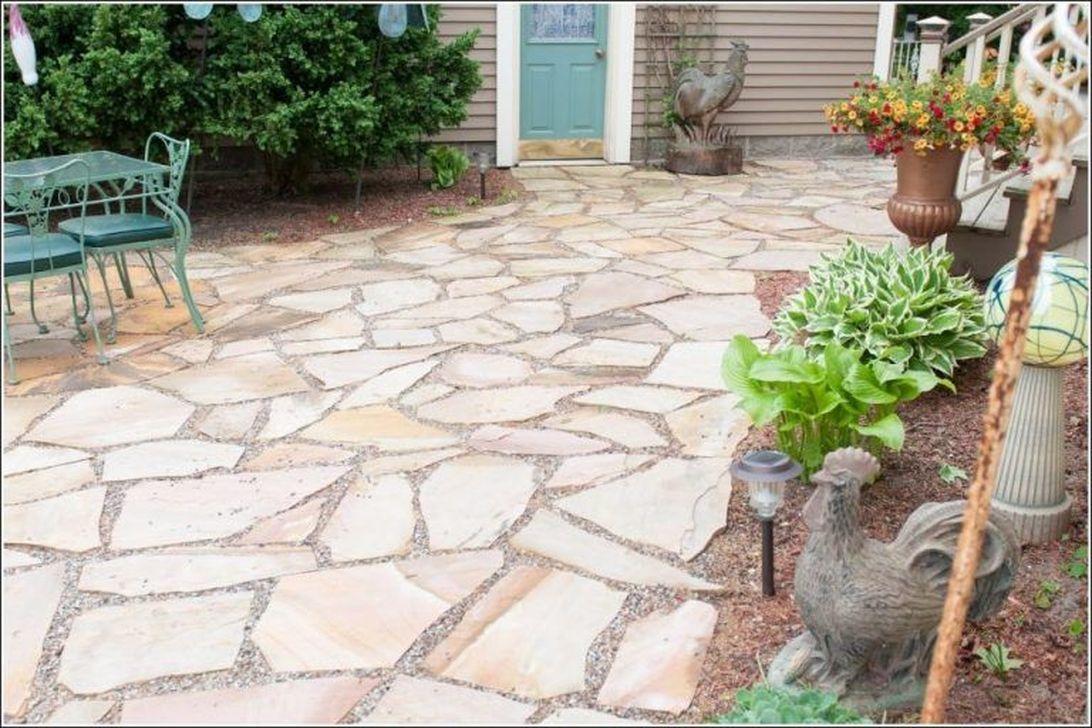 Awesome Flagstone Patio Design Ideas 07