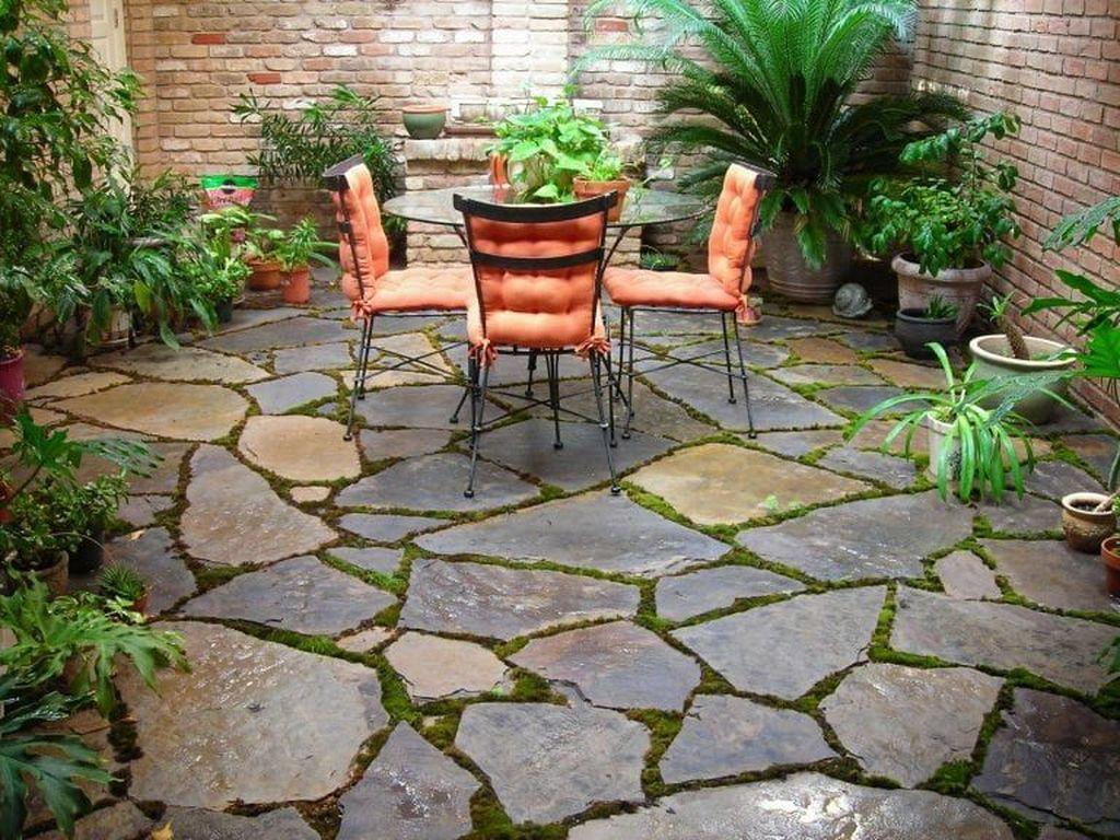 Awesome Flagstone Patio Design Ideas 09