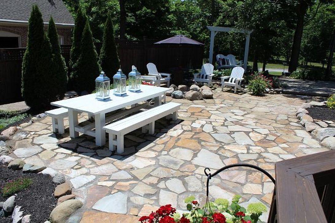 Awesome Flagstone Patio Design Ideas 26