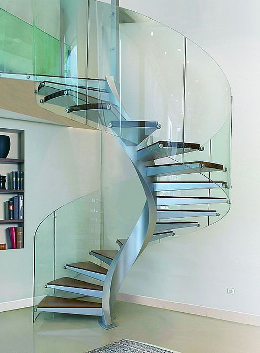 Awesome Modern Glass Railings Design Ideas For Stairs 08