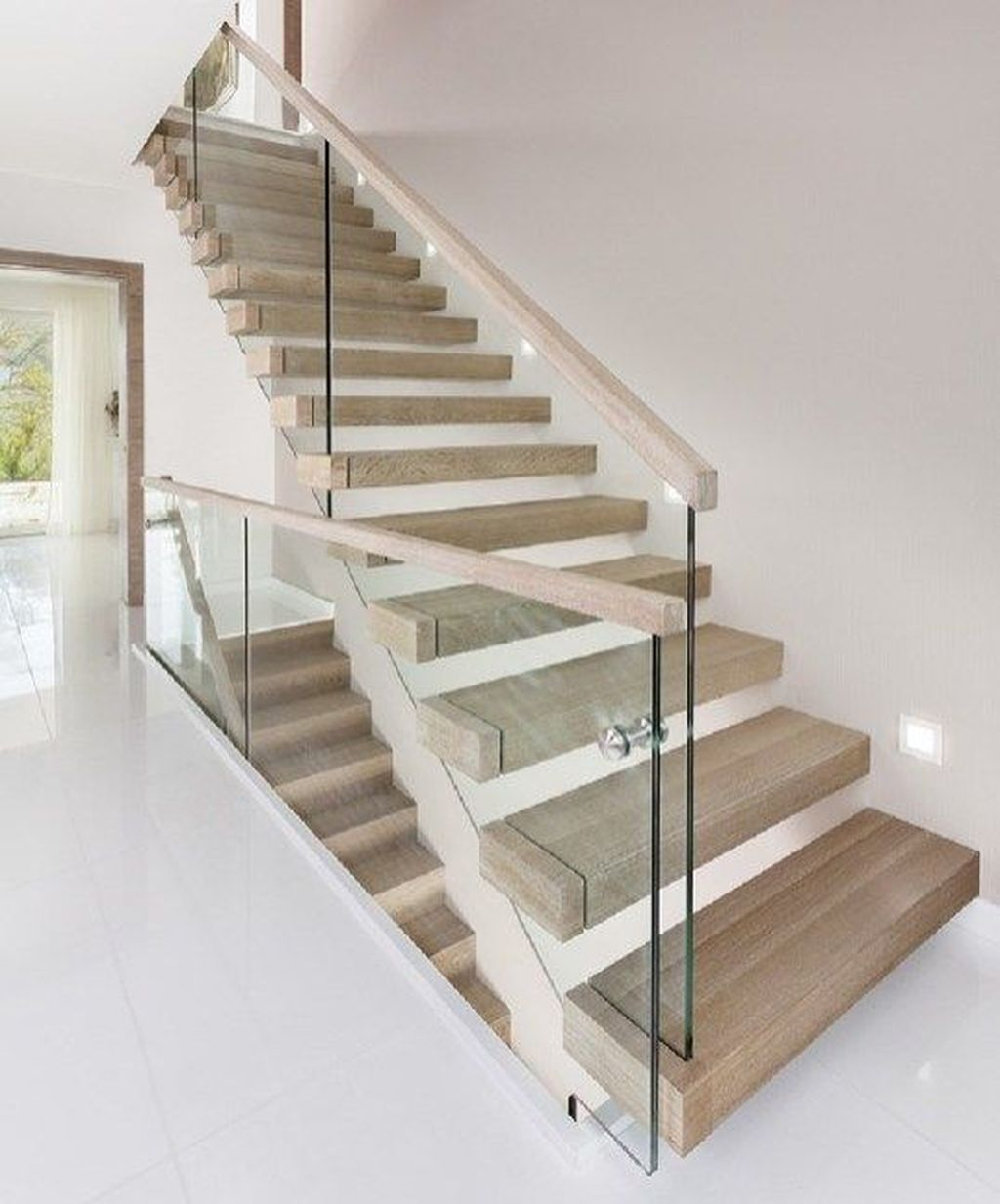 Awesome Modern Glass Railings Design Ideas For Stairs 16