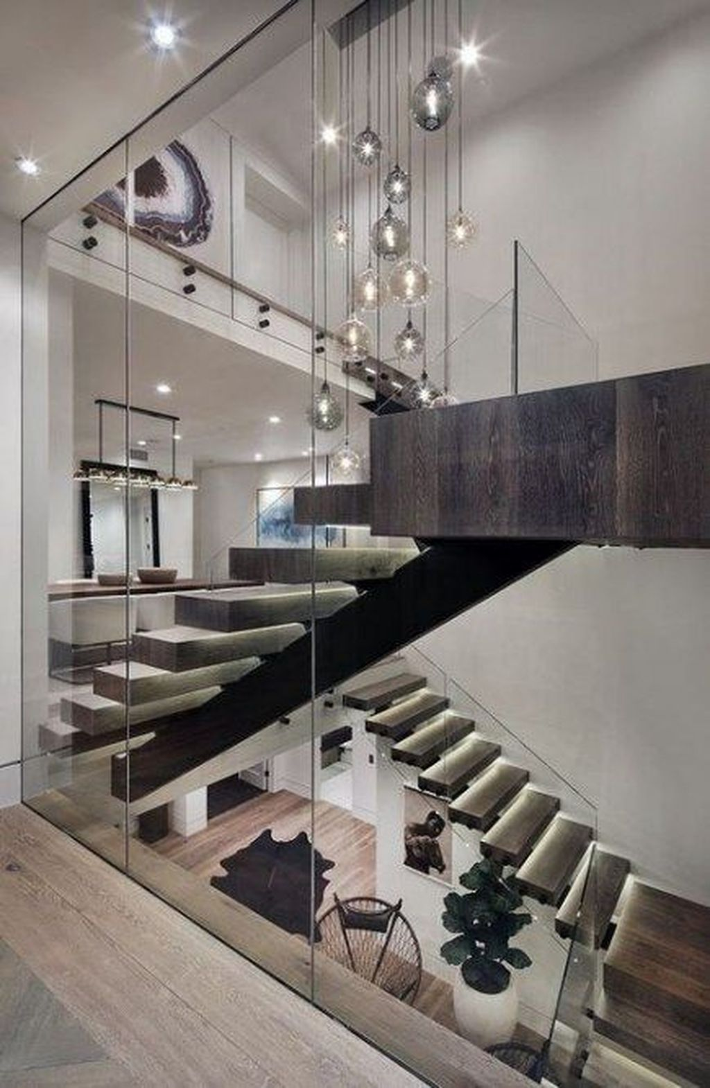 Awesome Modern Glass Railings Design Ideas For Stairs 17 ...