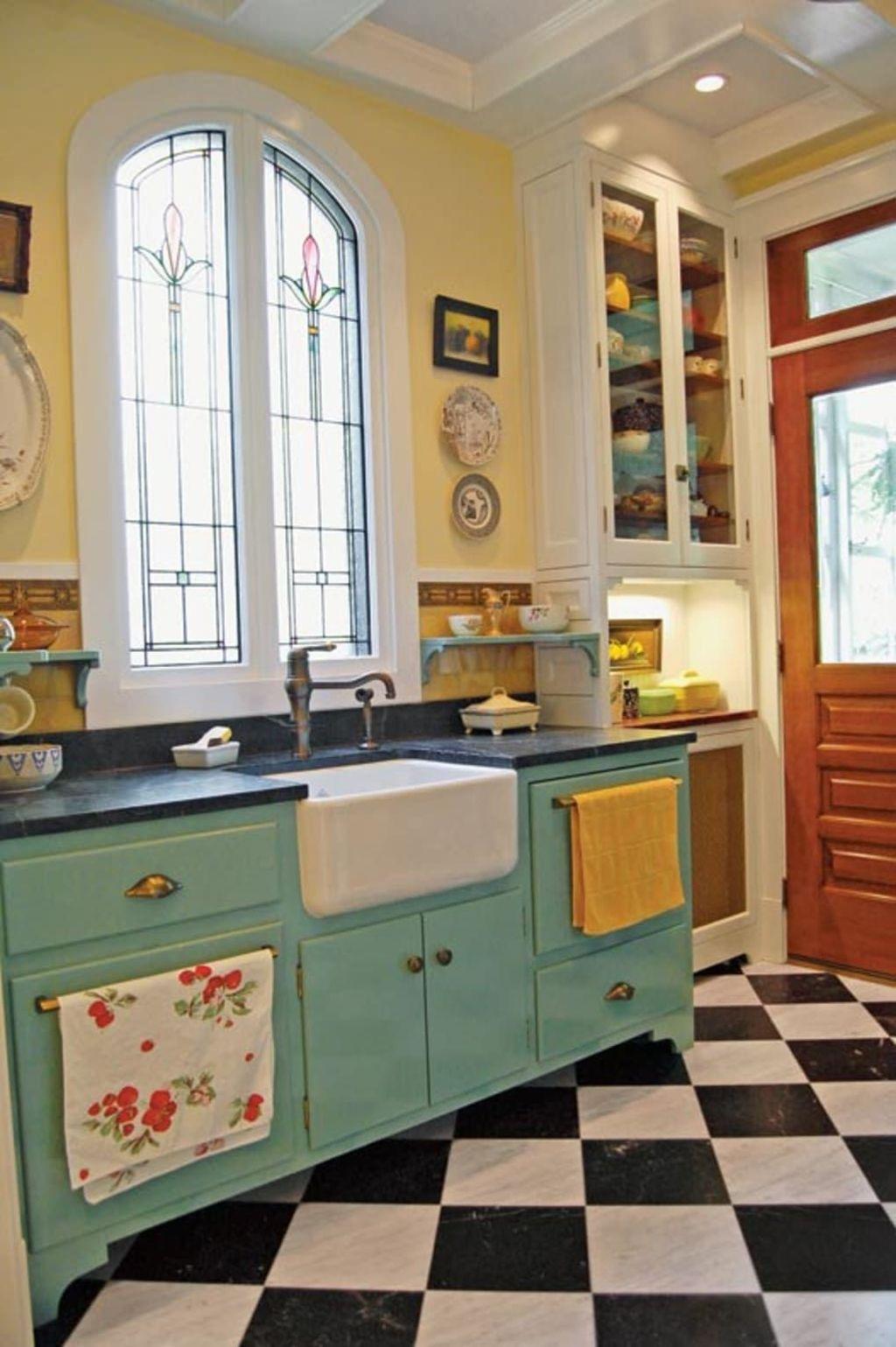 Awesome Retro Kitchen Design Ideas 06