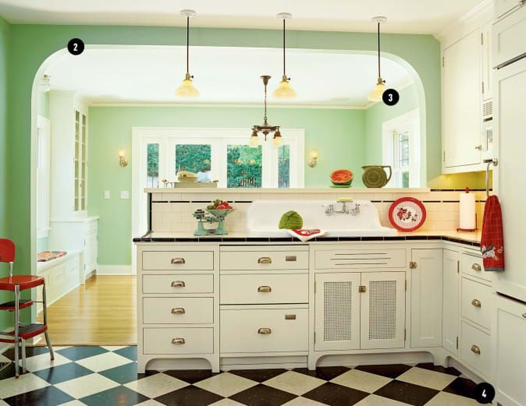 Awesome Retro Kitchen Design Ideas 33