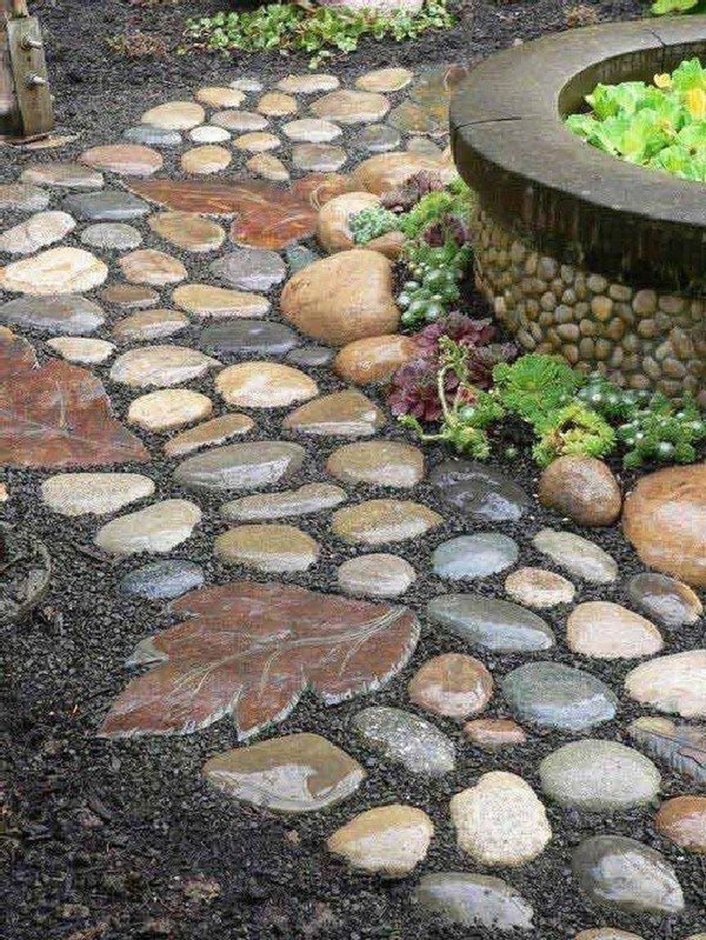 Awesome River Rock Landscaping Ideas 20
