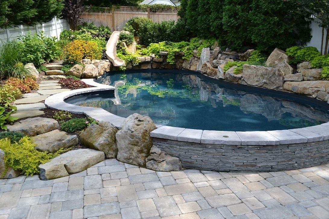 Awesome Small Pools Design Ideas For Beautiful Backyard Landscape 23