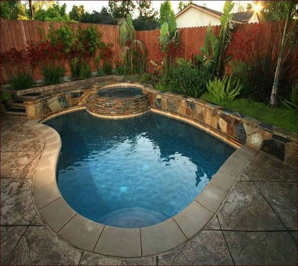Awesome Small Pools Design Ideas For Beautiful Backyard Landscape 25