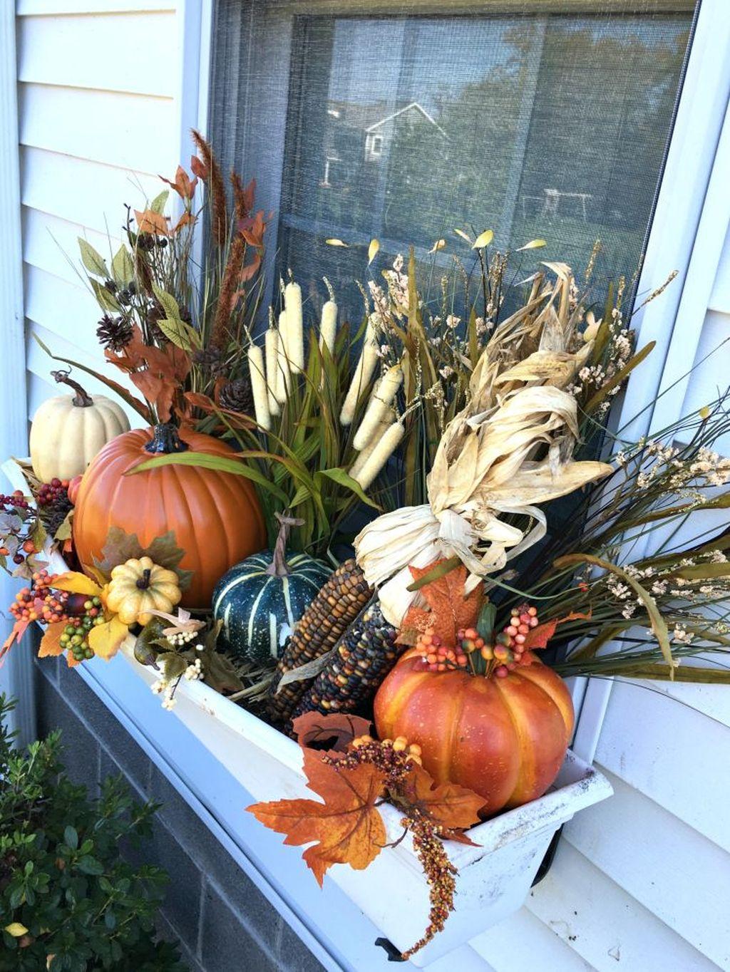 Beautiful Fall Window Boxes Design Ideas 15