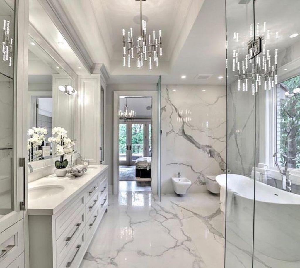 40 Beautiful Master Bathroom Design Ideas - MAGZHOUSE on Main Bathroom Ideas  id=98858