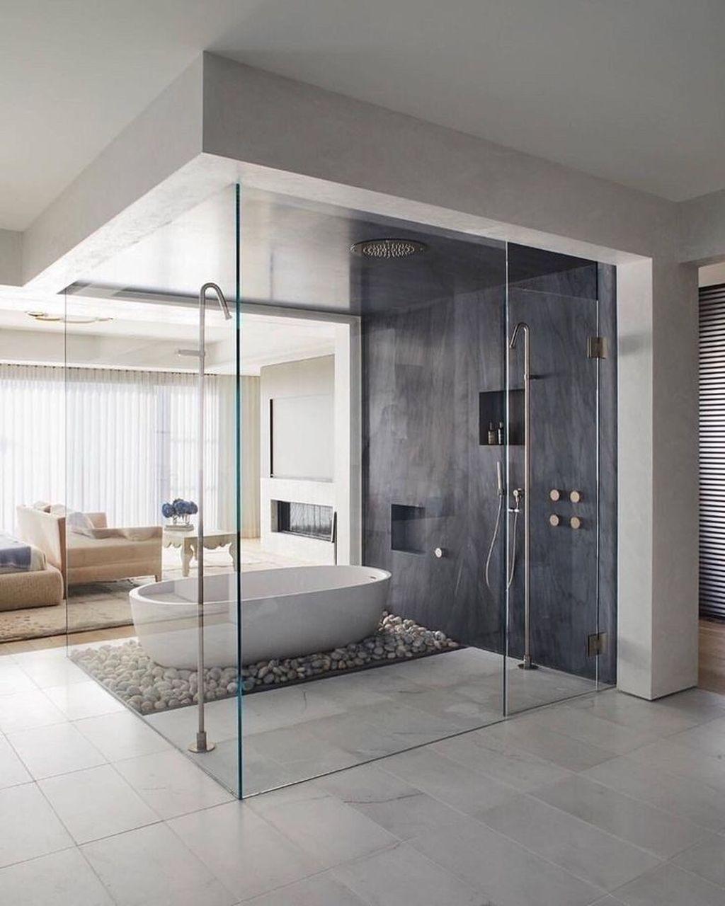 Fabulous Modern Master Bathroom Design Ideas 31