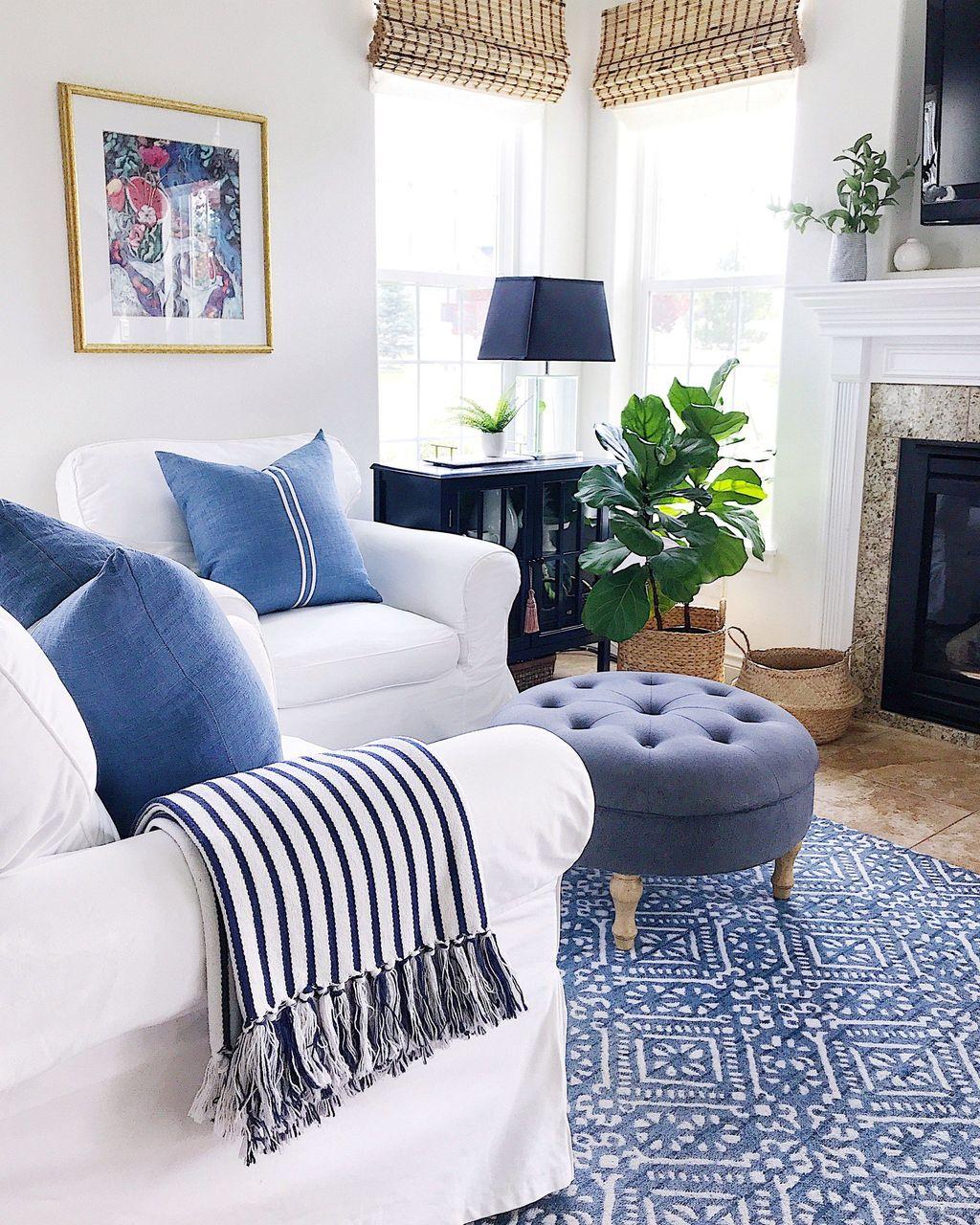 Fabulous Summer Living Room Decor Ideas 29