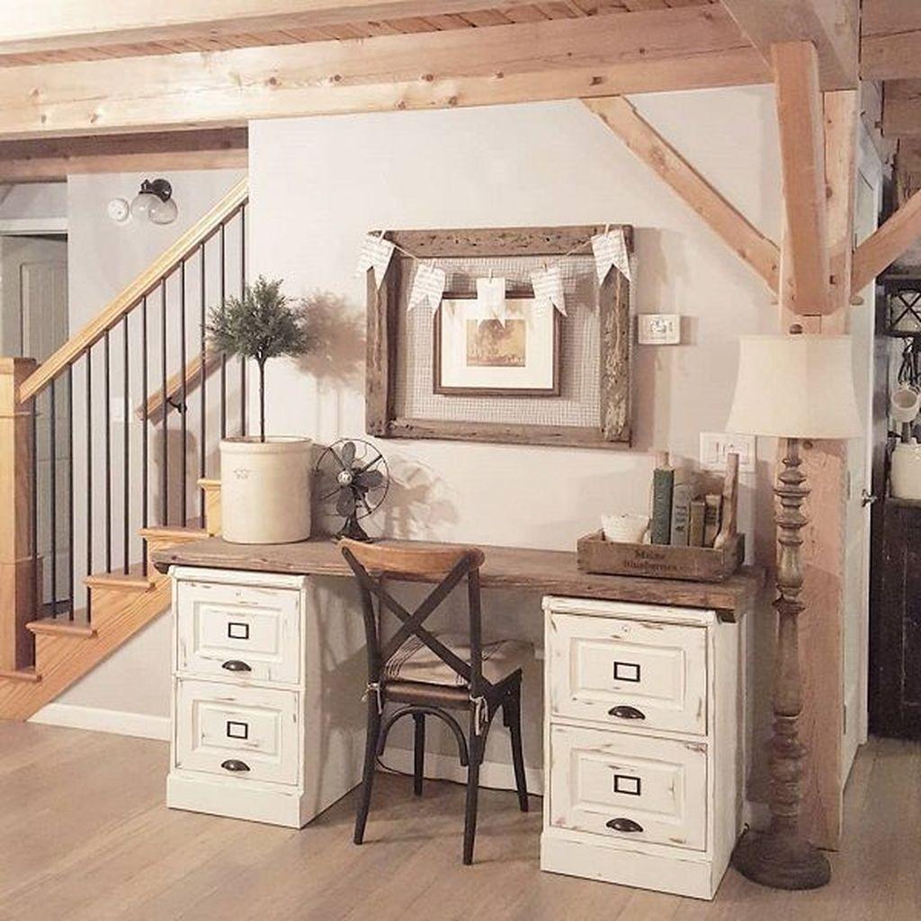 Gorgeous Rustic Office Decor Ideas 02