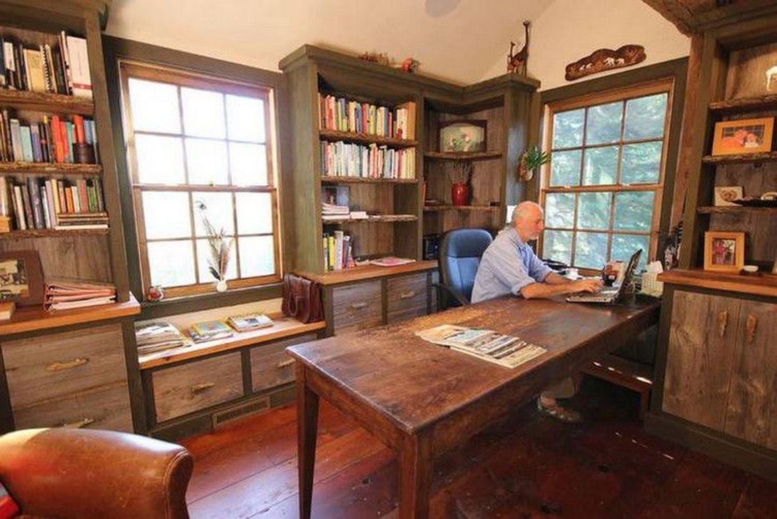Gorgeous Rustic Office Decor Ideas 14