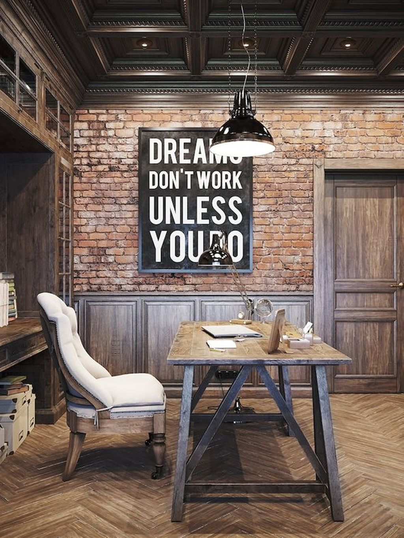 Gorgeous Rustic Office Decor Ideas 16