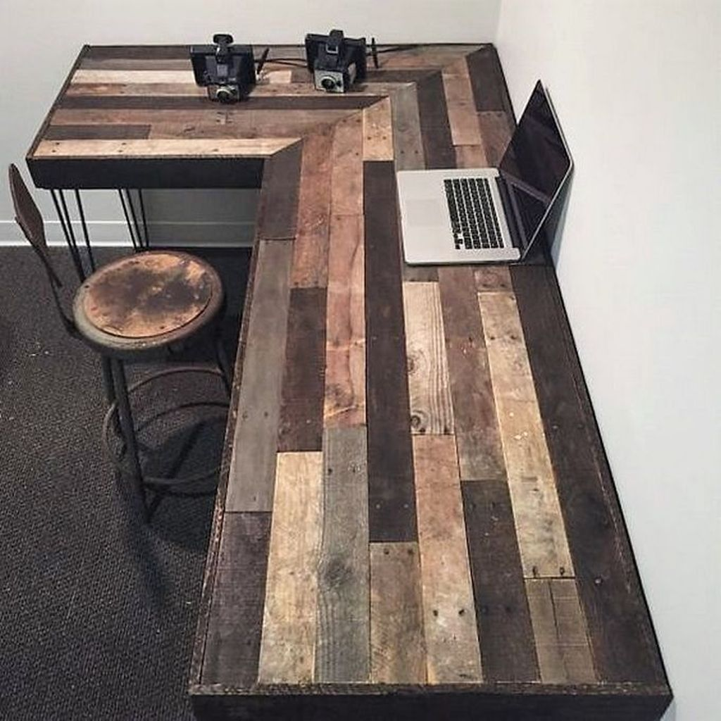 Gorgeous Rustic Office Decor Ideas 32