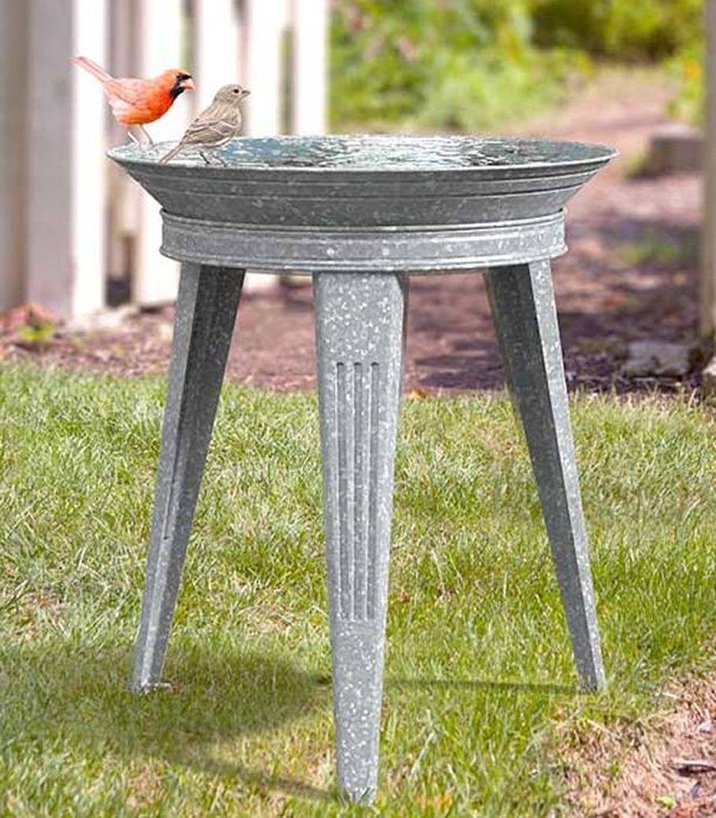 Inspiring Bird Bath Design Ideas For Front Yard 14