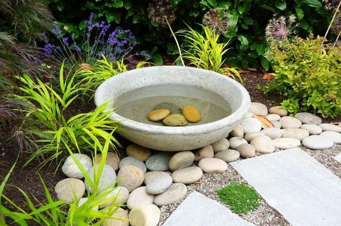 Inspiring Bird Bath Design Ideas For Front Yard 33
