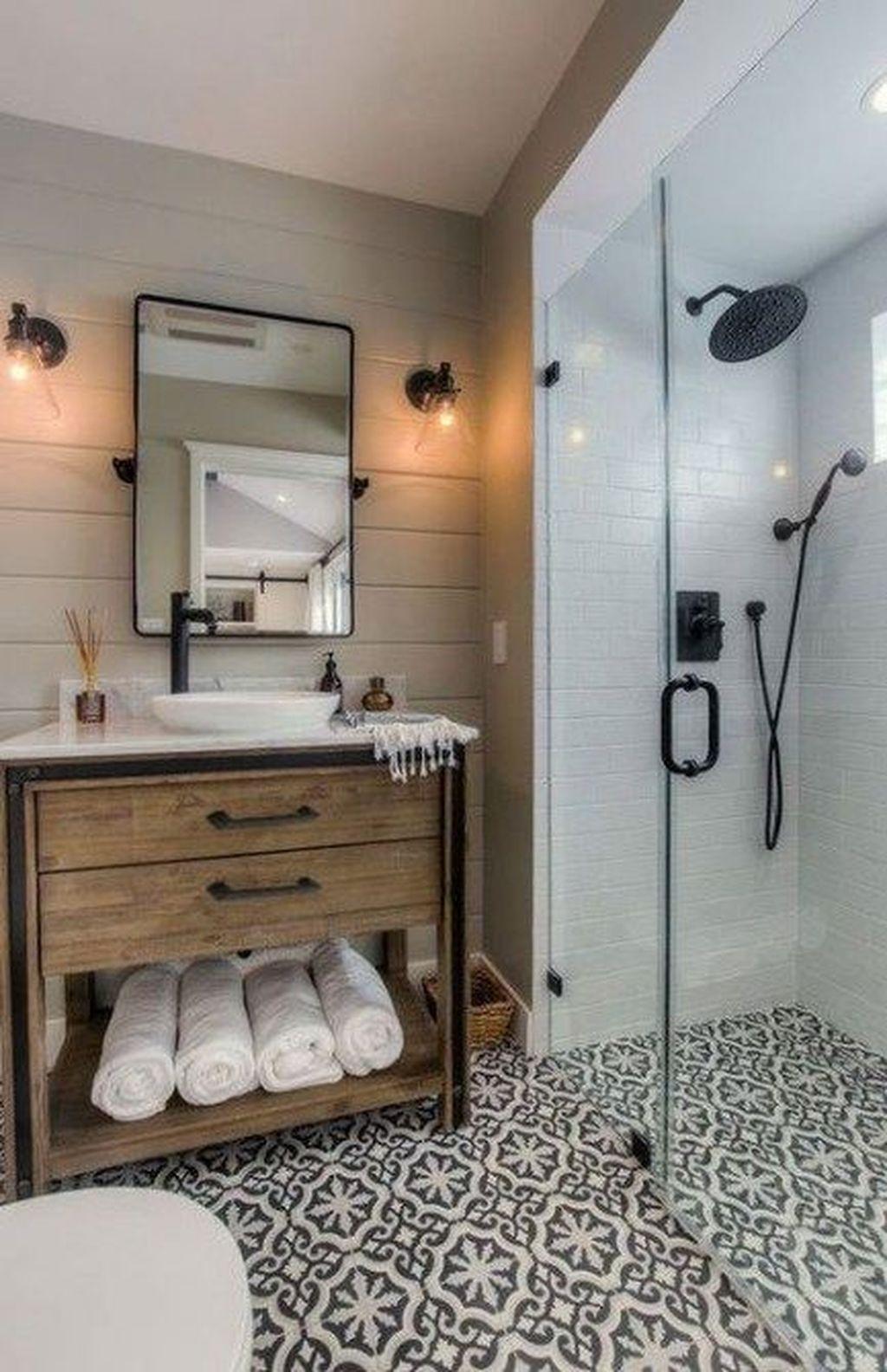 Inspiring Small Modern Farmhouse Bathroom Design Ideas 05