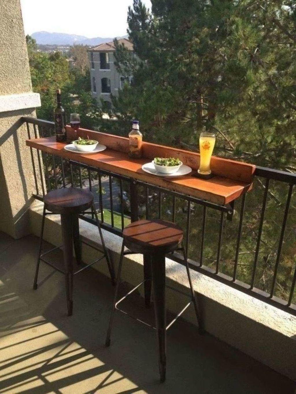 Inspiring Summer Apartment Balcony Decoration Ideas 14