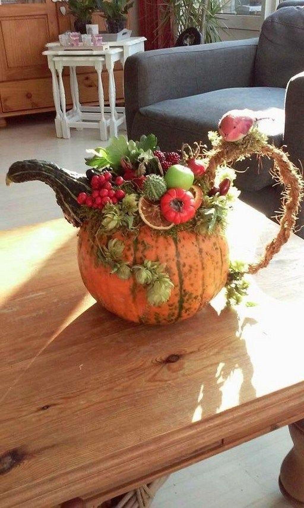 Lovely Fall Pumpkin Decor Ideas 18
