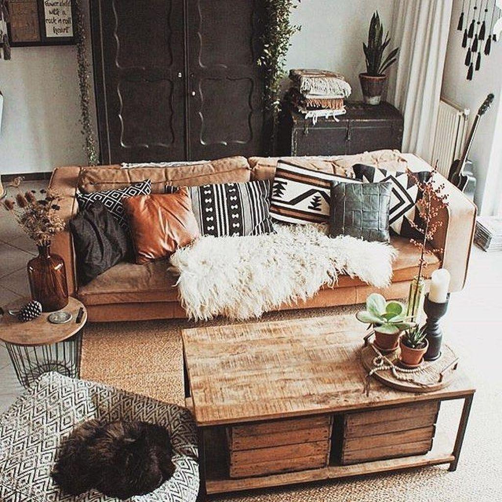 Nice Boho Farmhouse Design Ideas For Your Living Room Decoration 10
