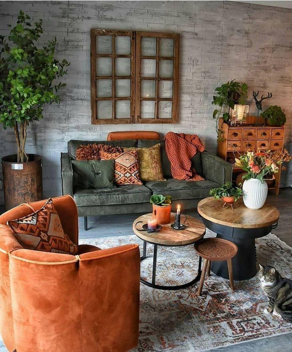 Nice Boho Farmhouse Design Ideas For Your Living Room Decoration 19
