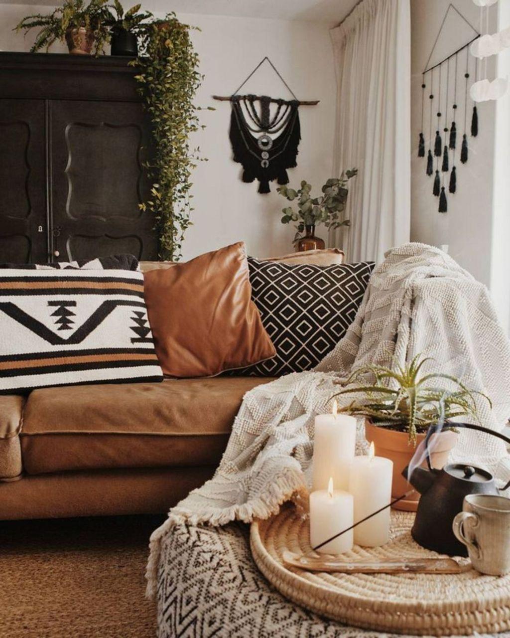 Nice Boho Farmhouse Design Ideas For Your Living Room Decoration 20