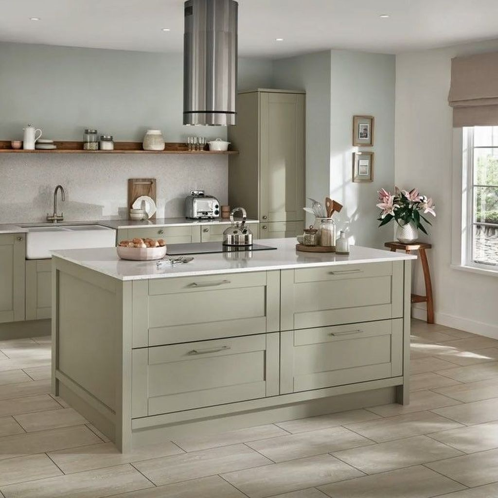 Nice Sage Kitchen Cabinets Design Ideas 01 - MAGZHOUSE
