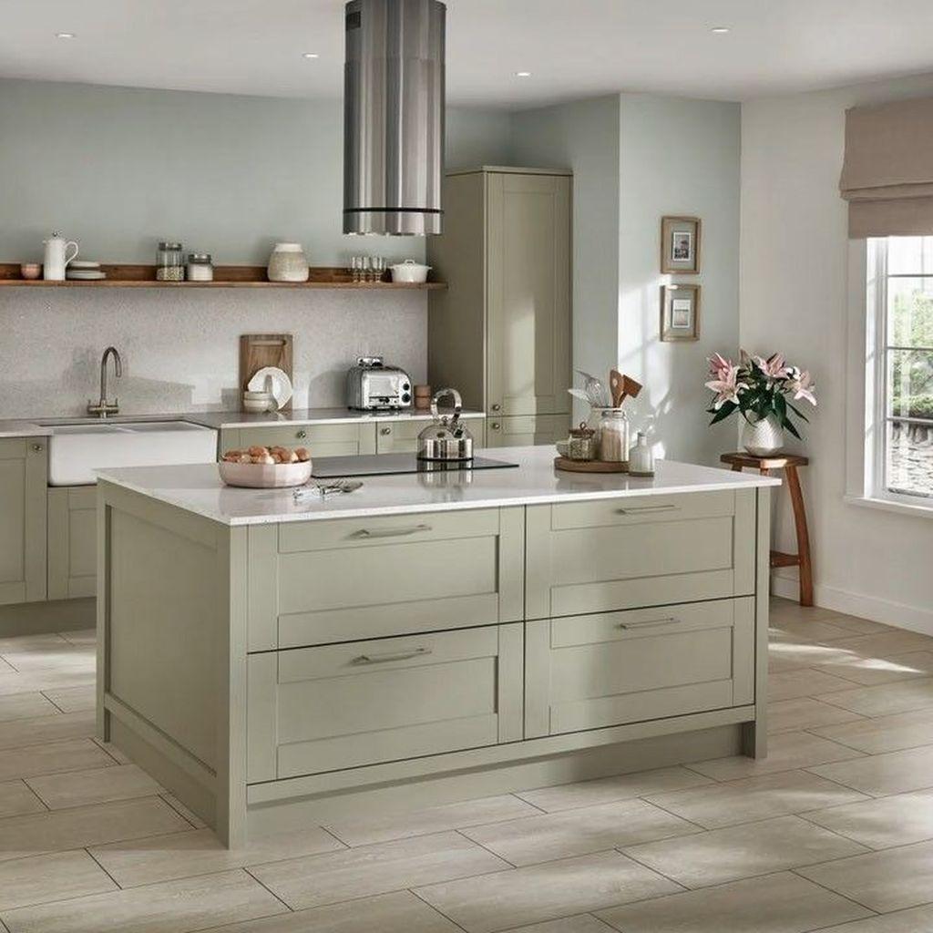 Nice Sage Kitchen Cabinets Design Ideas 01