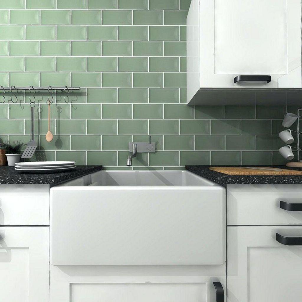 Nice Sage Kitchen Cabinets Design Ideas 18