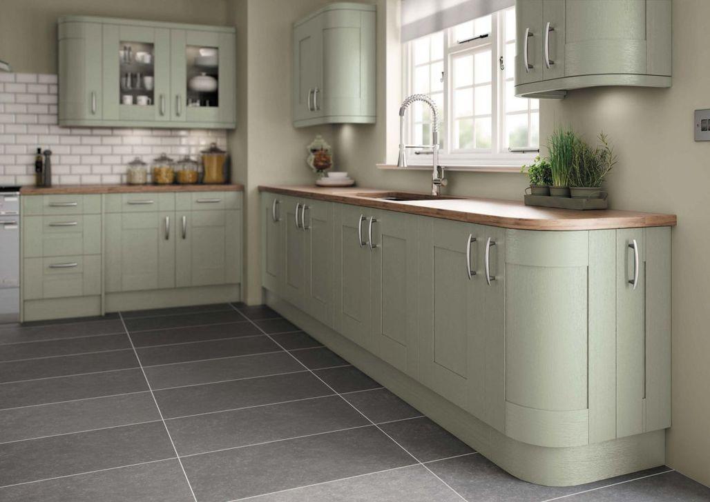 Nice Sage Kitchen Cabinets Design Ideas 28