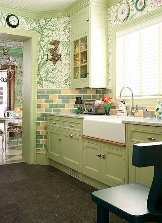 Nice Sage Kitchen Cabinets Design Ideas 31