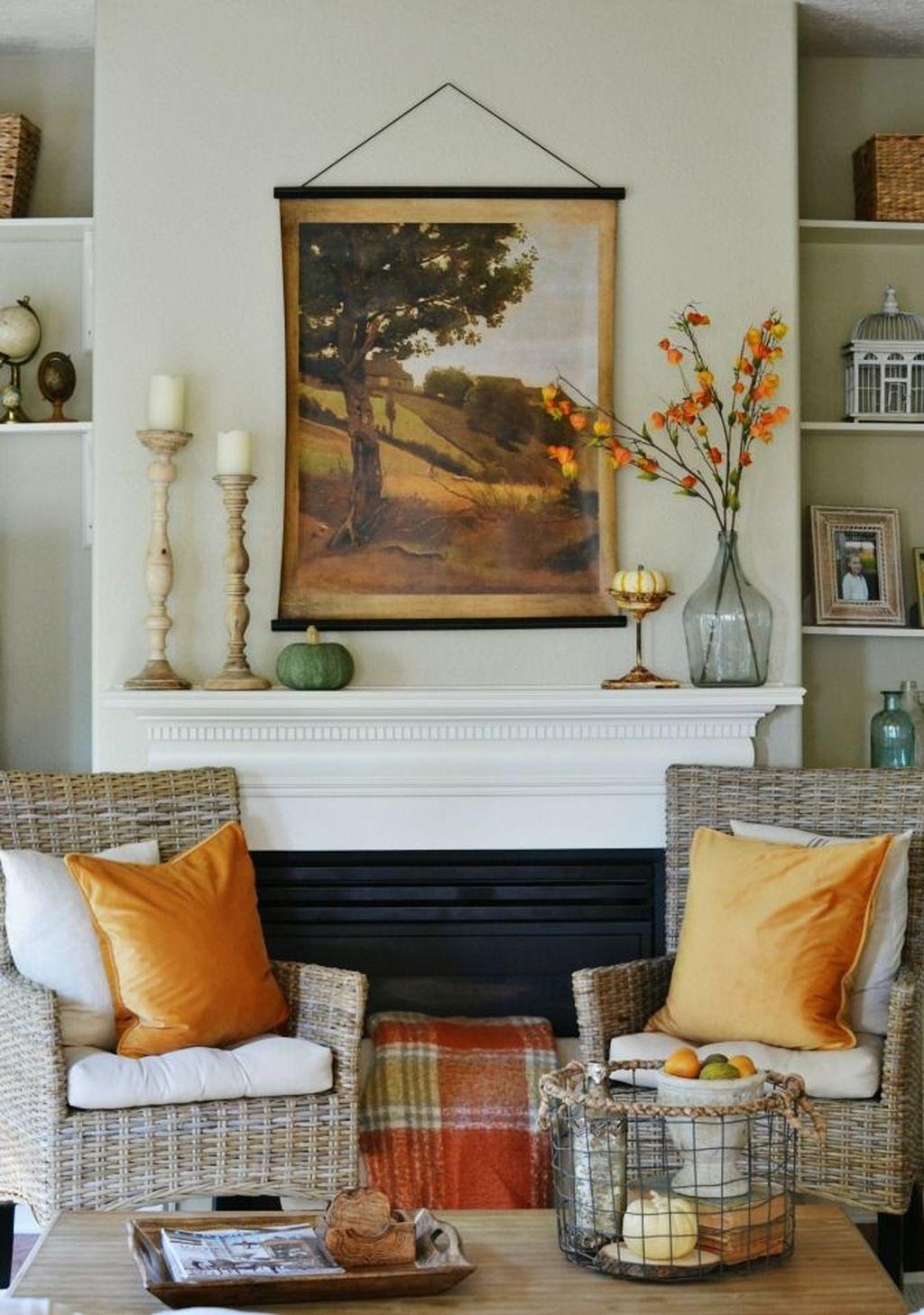 Popular Fall Fireplace Decoration Ideas 02