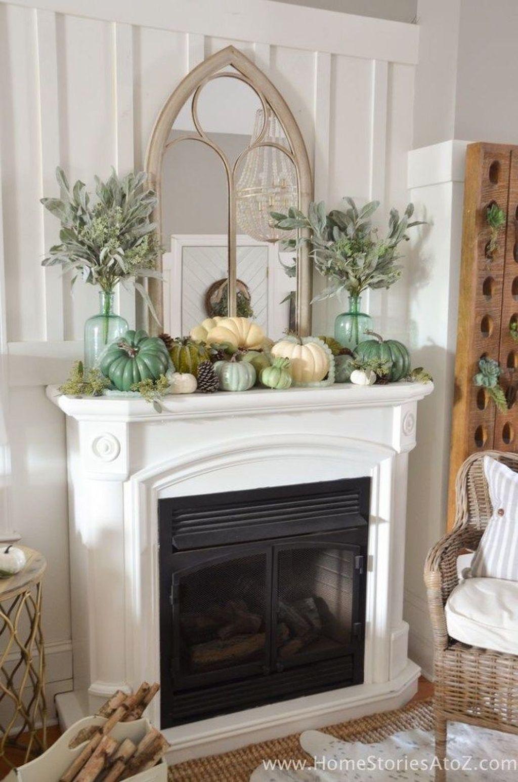 Popular Fall Fireplace Decoration Ideas 26