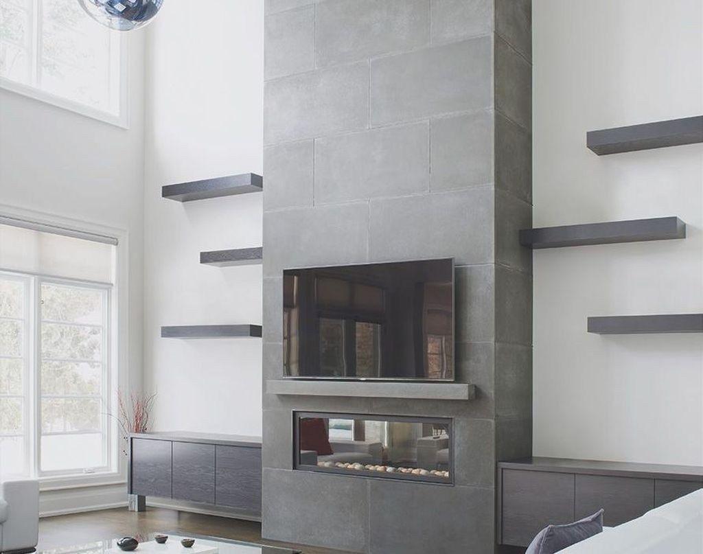 Popular Fall Fireplace Decoration Ideas 27