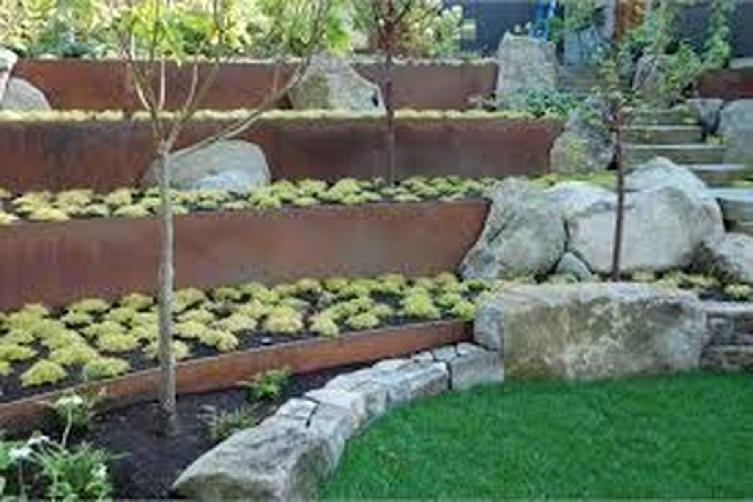 Popular Terraced Landscaping Slope Yard Design Ideas 03