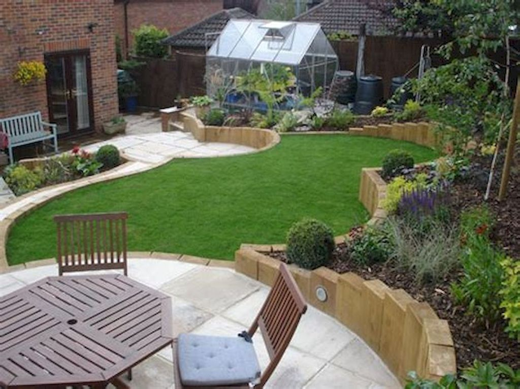 Popular Terraced Landscaping Slope Yard Design Ideas 10