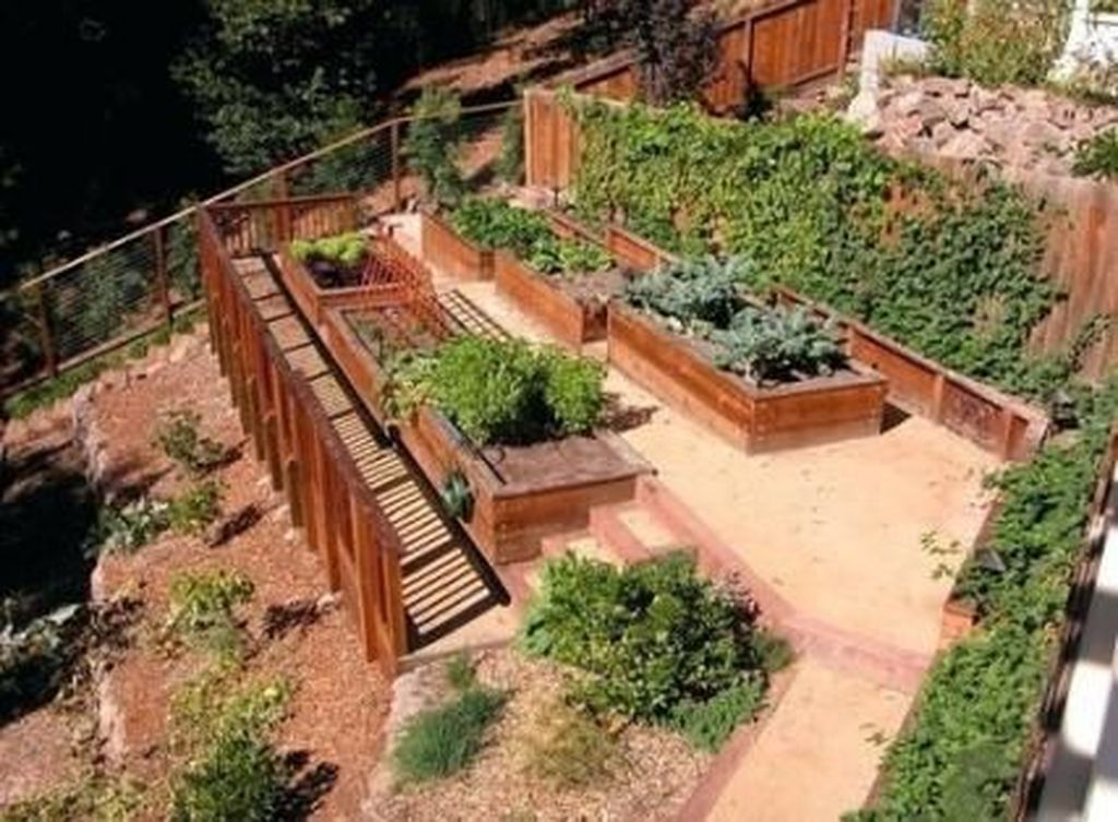 32 Popular Terraced Landscaping Slope Yard Design Ideas ... on Sloped Yard Ideas id=76259
