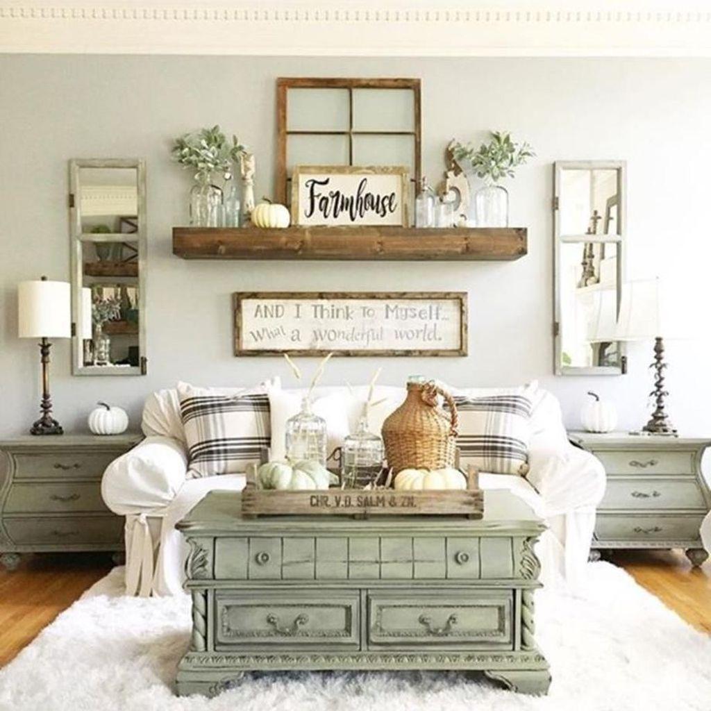 Stunning Farmhouse Living Room Decorating Ideas 02