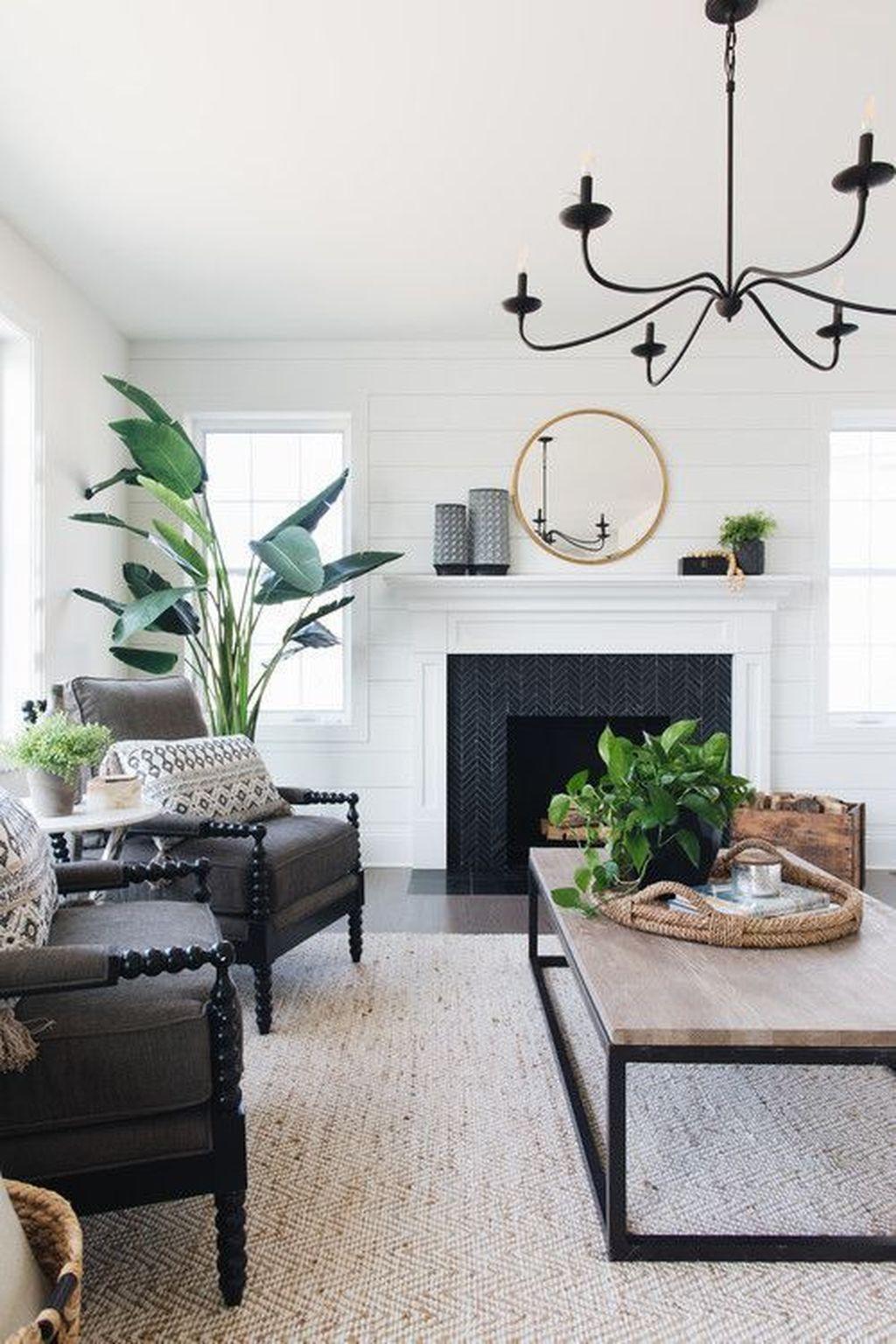 Stunning Farmhouse Living Room Decorating Ideas 19