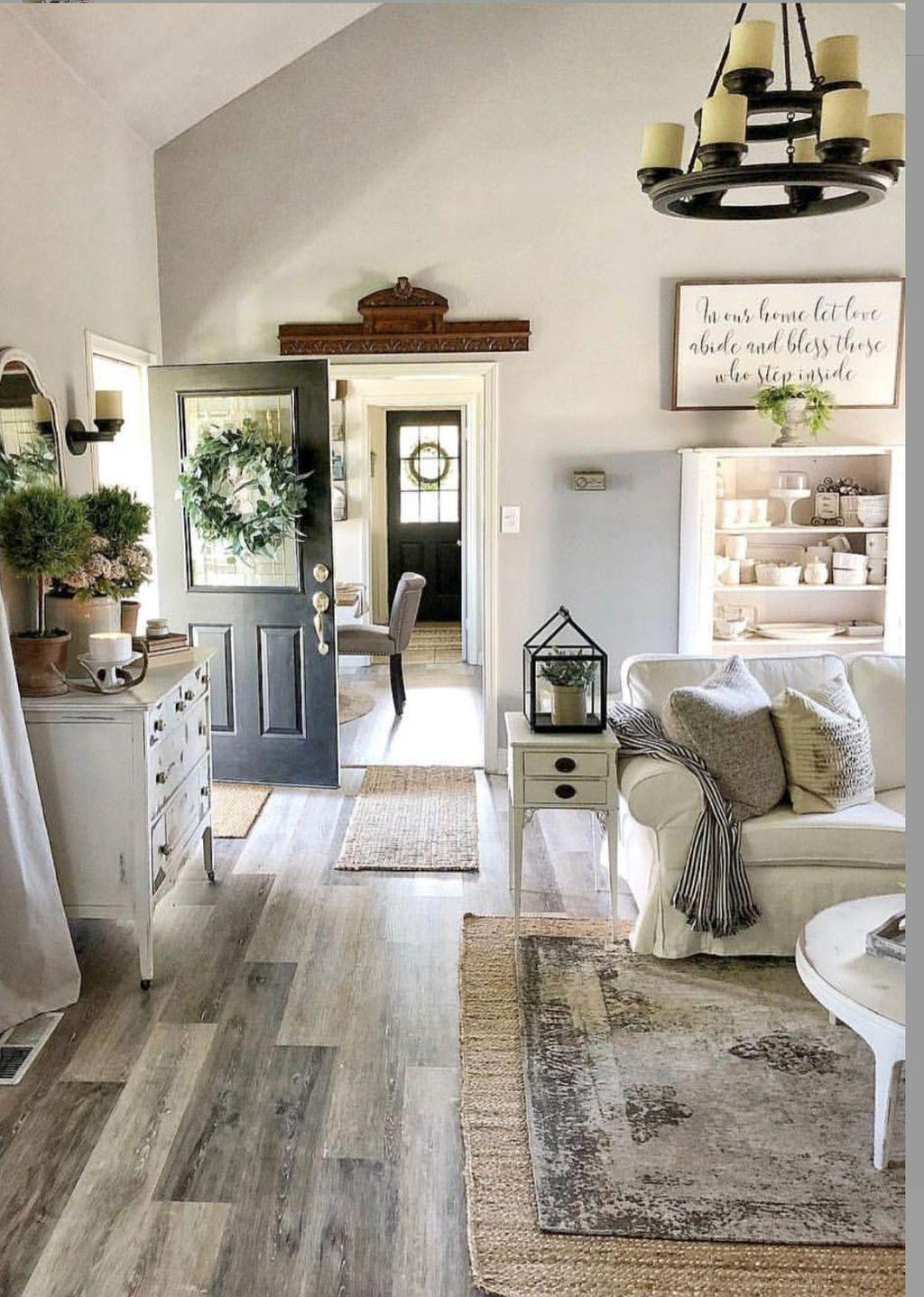 Stunning Farmhouse Living Room Decorating Ideas 23