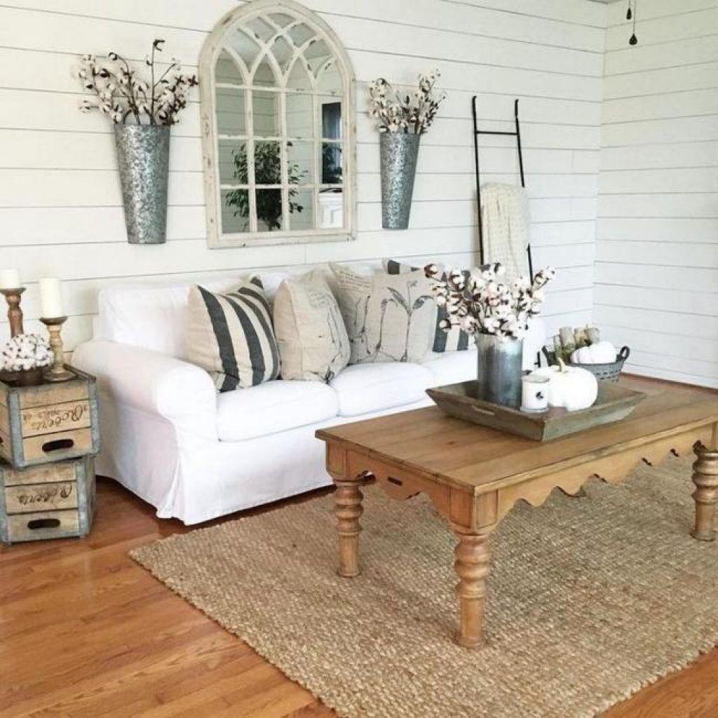 Stunning Farmhouse Living Room Decorating Ideas 30