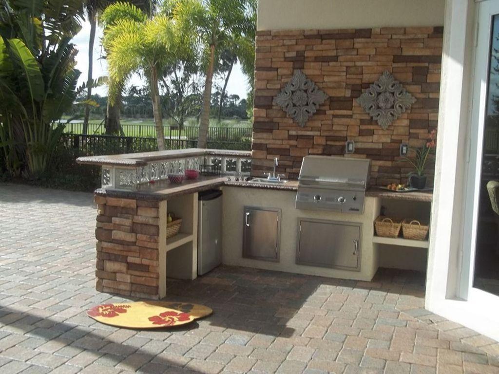 Stunning Outdoor Kitchen Design Ideas For Perfect Summer 05