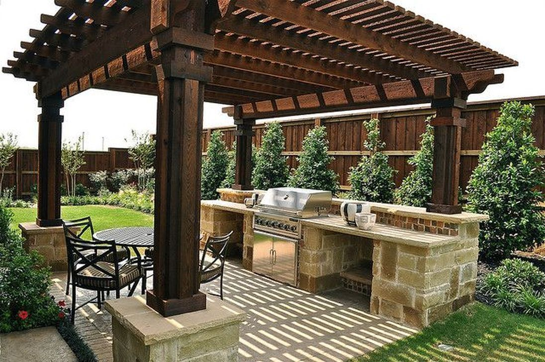 Stunning Outdoor Kitchen Design Ideas For Perfect Summer 24