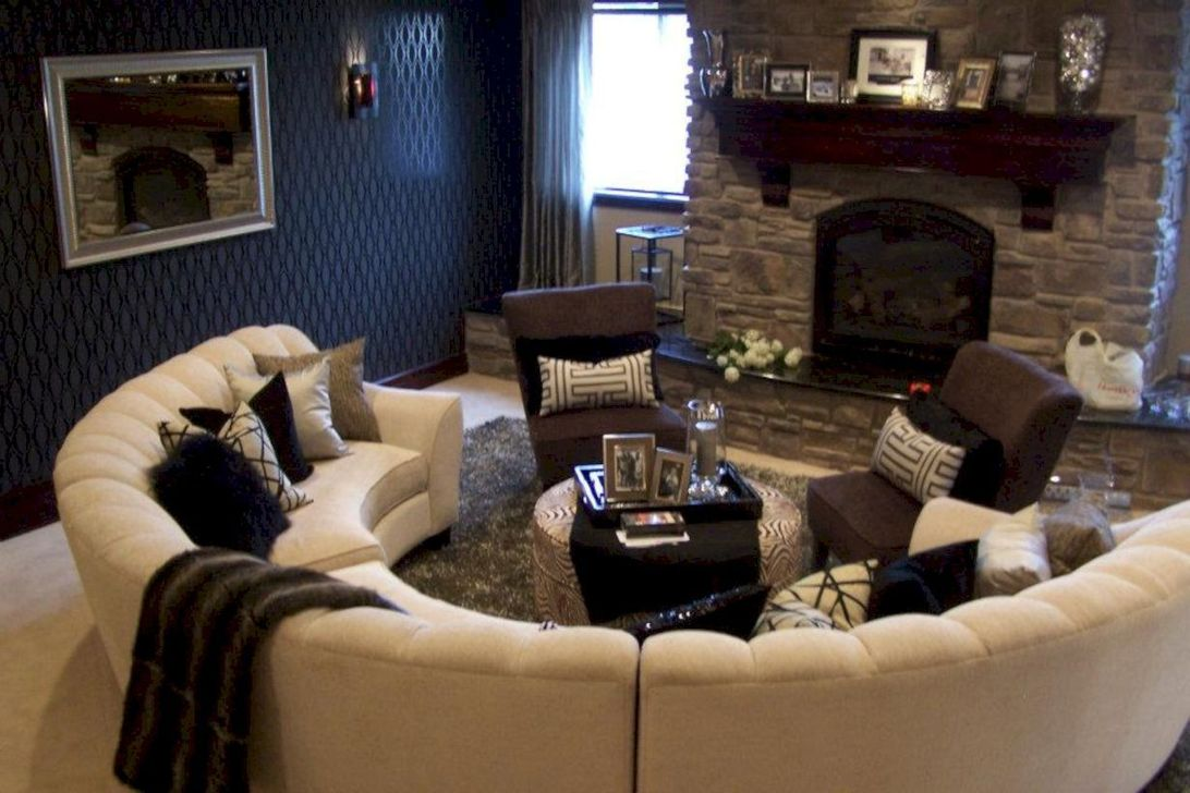 The Best Curved Sofa For Living Room Layout Ideas 35