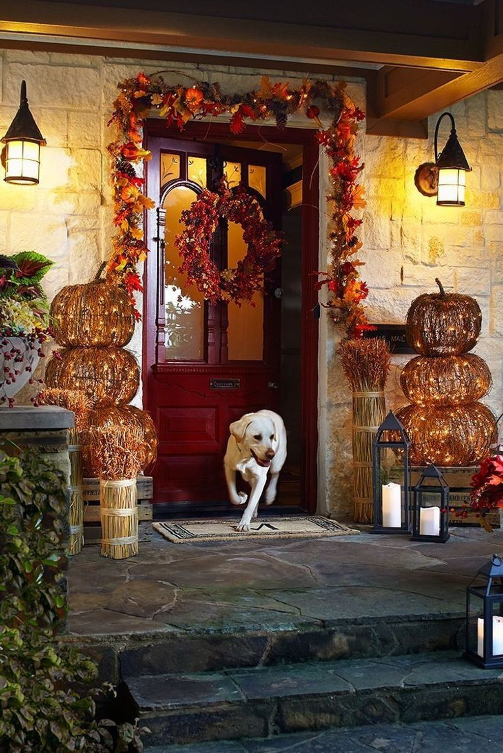 Amazing Front Porch Fall Decor Ideas That You Never Seen Before 04